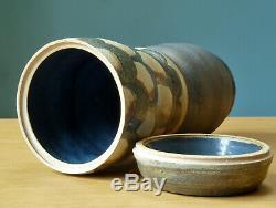 Studio Pottery Lot Vase Mid Century Grouping Vintage MCM Blue Ceramic Collection
