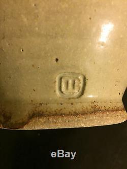 Studio Pottery Vase Oxide Design Stoneware Vintage Glaze Marked and Signed 9