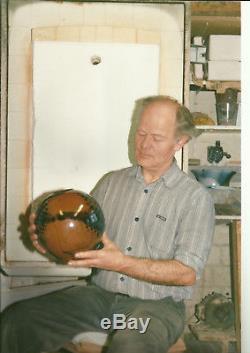Studiokeramik Vase Janine & Till Sudeck Aumühle rare vintage pottery