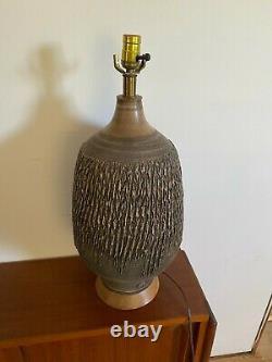 Stunning Vintage Lee Rosen Design Technics Studio Pottery Ceramic Table Lamp