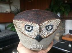 Stunning Vintage Rosemary Wren Studio Pottery Owl