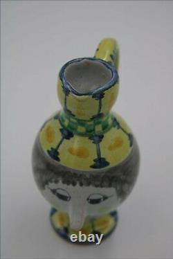 Superb Vintage 74 Studio pottery Bjorn Wiinblad Women figure Jug Pitcher Perfect