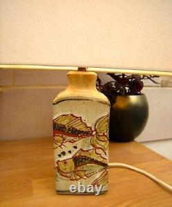 Table Lamp A Vintage Totnes Studio Pottery Colin Kellam koi fish Lamp Very Retro