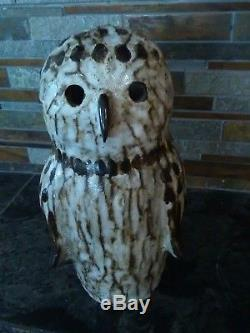 Tommy Kakinuma Canadian Studio Art Pottery Owl Sculpture Vtg