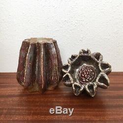 Unusual Biomorphic Studio Pottery Vessel Sculpture, Vintage Artist Signed
