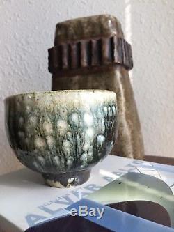 Unusual Mid Century Vintage Vivika & Otto Heino Studio Pottery Bowl