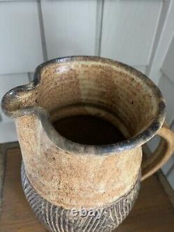 VINTAGE Clyde Gobble North Carolina Art Studio Pottery Large PITCHER signed 12