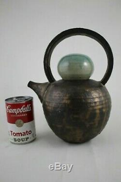 VTG Helen Faibish (1933-2019) San Francisco Studio Pottery Teapot & Tea Bowl Lid