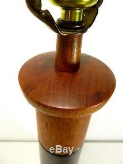 VTG Large MARSHALL STUDIOS Signed MARTZ CERAMIC TABLE LAMP Art Pottery MCM Retro