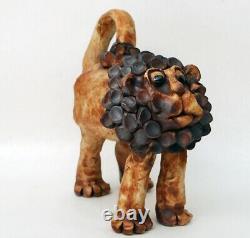 VTG Lion Sculpture Robert Maxwell Lisa Larson Hal Fromhold Studio Pottery MCM
