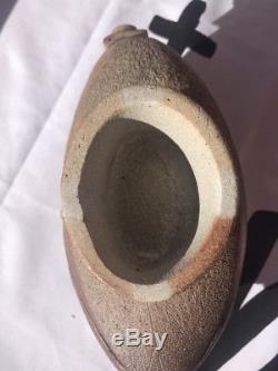 VTG MCM Ikebana Studio Art Pottery Vase Planter Brutalist Patchwork Signed A