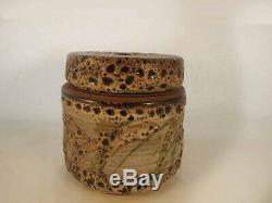 VTG Mid Century Edna Arnow Chicago Studio Art Pottery Canister & Lid