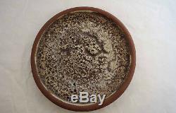 VTG Mid Century Edna Arnow Chicago Studio Art Pottery Lava Plate