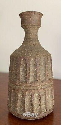 VTG ROBERT MAXWELL Studio Pottery Vase Weed Pot California 7 Tall