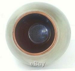 VTG Theo & Susan Harlander Brooklin Ontario CA Studio Lg 13.5 Pottery Vase MCM