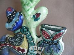 Vande Vintage Wall Plaque Vase Mexican Australian Pottery Ceramic Artist Studio