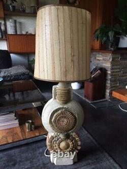 Very Large Vintage Studio Pottery Lamp Base By Bernard Rooke