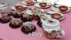 Vintage 1950's Pottery Dinner & Tea Service Eileen Stevens Butterfly Tureens etc