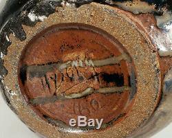 Vintage 1960 Joseph Hysong Studio Art Pottery Vase Mid-century Modern California