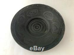 Vintage 1960's 1970's Mid Century Modern Ceramic Stoneware Studio Pottery Plate