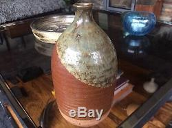 Vintage 1970s Studio Pottery Bottle Vase by Peter Lane