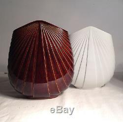 Vintage 1980s Rosenthal Studio Line Max Fussi Brown Glazed Stoneware Fan Vase