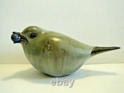 Vintage 1987 Andersen Design Studio Junco Bird with Berry Art Pottery Figurine