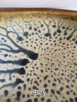 Vintage 1991 Richard Aerni Large Ceramic Studio Pottery Bowl Gorgeous 19x5