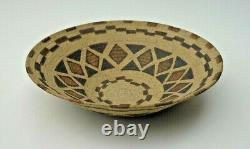 Vintage 1998 DAVID SALK Studio Art Pottery Bowl Basket Design