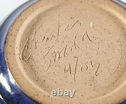 Vintage 4/05 Sgraffito Raku CHARLES SMITH Mobile Alabama African Studio Pottery