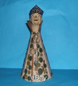 Vintage 70's Elizabeth Haslam Studio Pottery Attractive Bishop Art Figurine