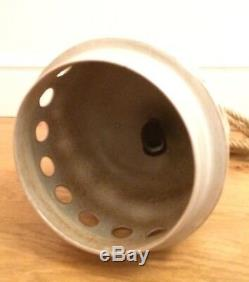 Vintage 70s Studio Pottery Stoneware Pendant Light Boho
