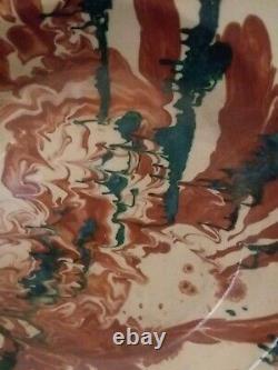 Vintage A. La Grotta Grottaglie Studio Art ceramic pottery Pasta Bowl