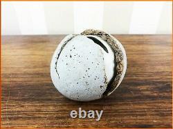 Vintage Alan Wallwork Studio Pottery Hatching Egg Stoneware Porcelain Signed