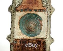 Vintage Alan Wallwork Studio Pottery Signed Stoneware Lamp Base c. 1960s