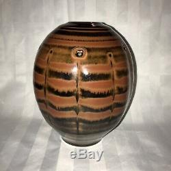 Vintage American Master Studio Pottery Tom Turner Reduction Porcelain Vase