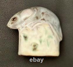 Vintage Andersen Design Studio Mouse cheese 1984 Art Pottery retired Figurine 4