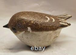 Vintage Andersen Design Studio Natural Brown Kinglet Bird Figurine Signed