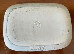 Vintage Andersen Design Studio Pottery Striped Cat Stoneware Dish Plate Tray