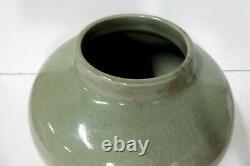 Vintage Ann Geroe Celadon Glaze Vase Pot Australian MID Century Pottery Studio