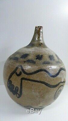 Vintage Australian Pottery Deborah Halpern Studio Ceramic Hand Painted Vase