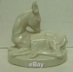 Vintage Australian Pottery Studio Ceramic Art Deco Deer Fawn Statue