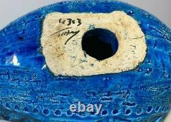 Vintage BITOSSI Aldo Londi Studio Pottery Rimini Blue Dove Mid Century Original