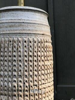Vintage BOB KINZIE / Affiliated Craftsman Lamp MCM studio Pottery ceramic SIGNED