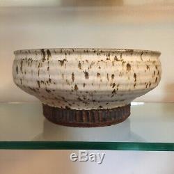 Vintage BRUCE TOMKINSON California Studio Art Pottery Console Bowl Heino Beato