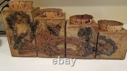 Vintage Bennett Welsh Signed Studio Art Pottery Canister Set