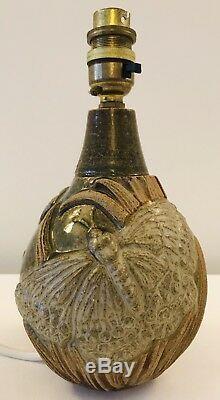Vintage Bernard Rooke 1960-70 Mid-century Studio Pottery Butterfly Lamp Pat Test