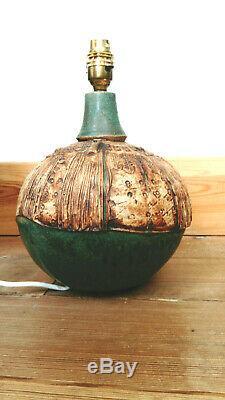 Vintage Bernard Rooke Studio Pottery Lamp Base 1970 80's