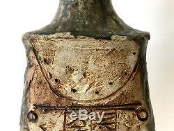Vintage Bernard Rooke Studio Pottery Stoneware Lamp Base Mid-Century Modern