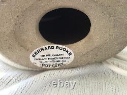 Vintage Bernard Rooke The Mill Gallery Studio Pottery Lamp Base Butterfly Design